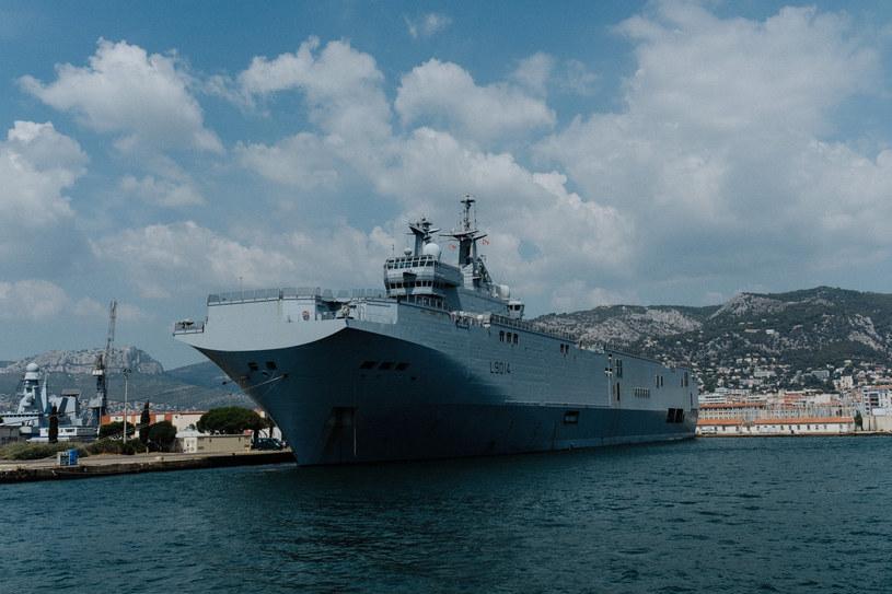 Francuski okręt desantowy typu Mistral, zdj. ilustracyjne /Jan Schmidt-Whitley/Le Pictorium/Le Pictorium /East News