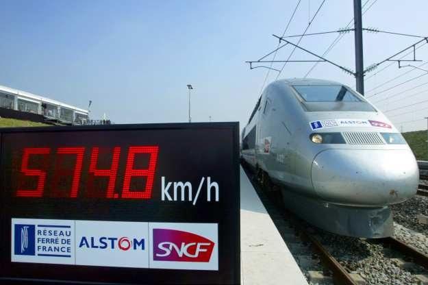Francuski TGV V150, który trzyma rekord prędkości pojazdu szynowego /AFP