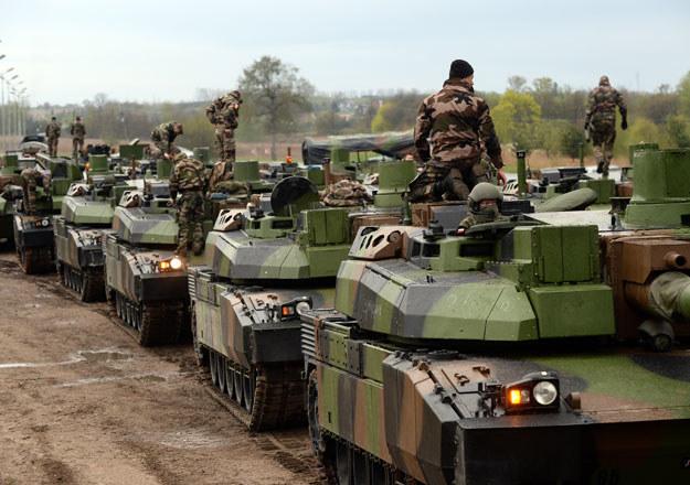 Francuskie czołgi w Drawsku Pomorskim w ramach manewrów NATO /Janek Skarżyński /AFP