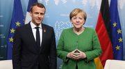 """Francuskie media: Macron leci do Niemiec """"ratować Merkel"""""""