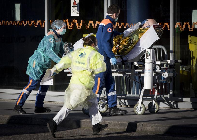 Francuskie służby medyczne, Strasburg 2020 r. /Elyxandro Cegarra/Anadolu Agency /Getty Images