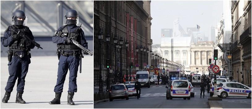 Francuskie służby po zamachu, który miał miejsce przy wejściu do podziemnej galerii handlowej tuż obok paryskiego Luwru; zdj. ilustracyjne /IAN LANGSDON /PAP/EPA