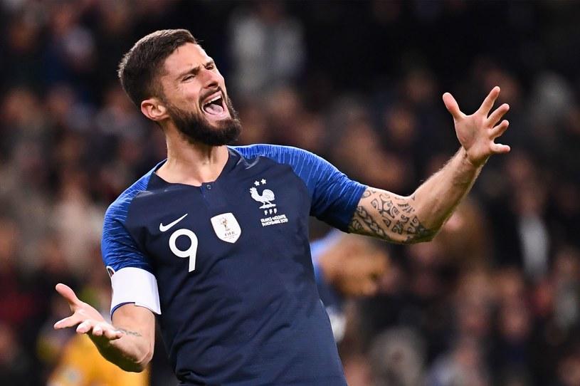 Francuz Olivier Giroud w barwach narodowych /AFP