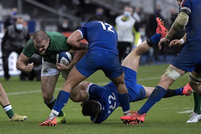 Francuzi rozgromili w ostatnim meczu Irlandczyków, ale turniejowy triumf był poza ich zasięgiem... /PAP