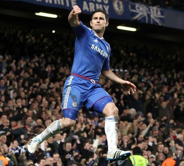 Frank Lampard cieszy się po zdobyciu gola dla Chelsea /AFP