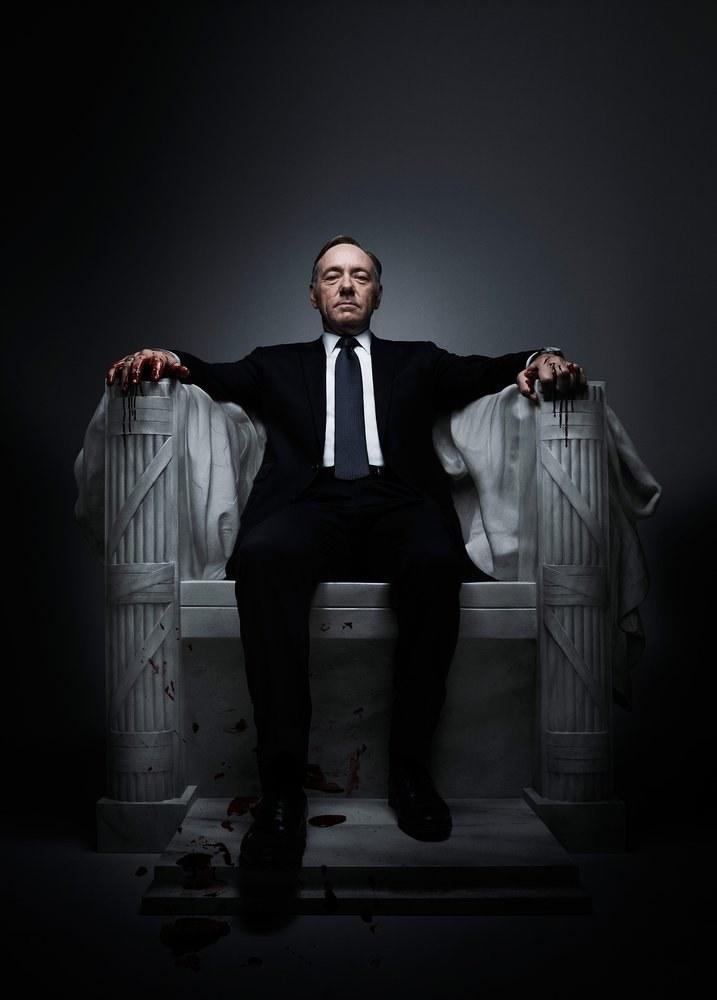 """Frank Underwood z amerykańskiego serialu """"House of Cards"""" - jego pierwowzorem był książkowy Francis Urquhart. /East News"""