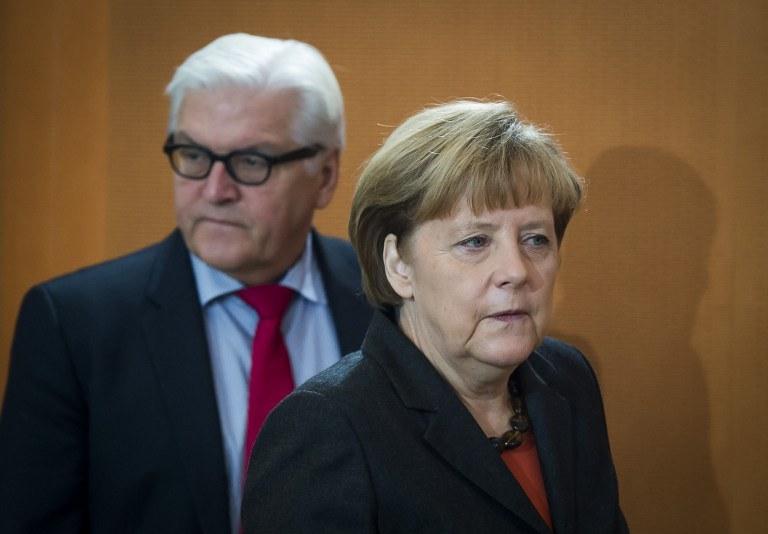Frank-Walter Steinmeier i Angela Merkel /AFP
