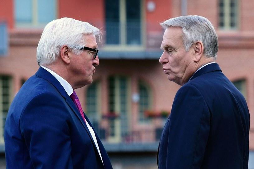 Frank-Walter Steinmeier i Jean-Marc Ayrault /JOHN MACDOUGALL /AFP