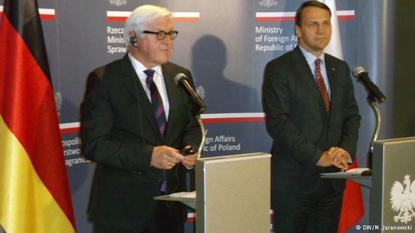 Frank-Walter Steinmeier i Radosław Sikorski /Deutsche Welle