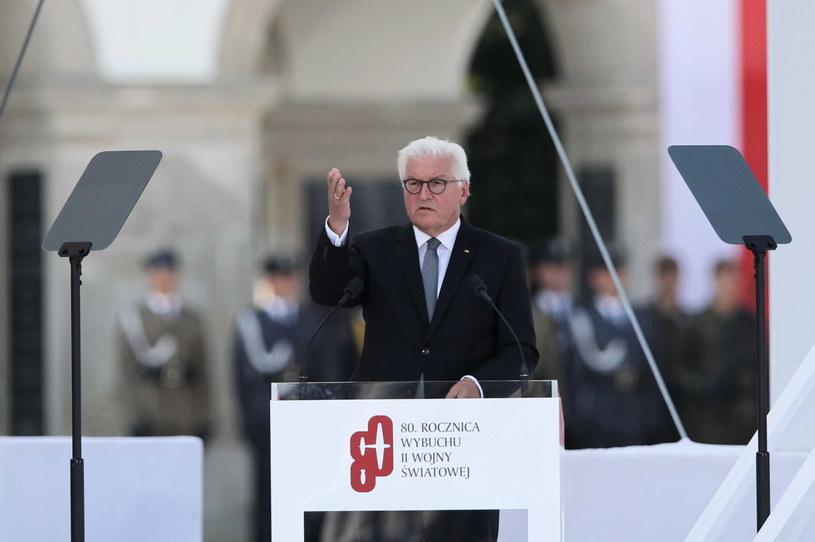 Frank-Walter Steinmeier w Warszawie /Leszek Szymański /PAP