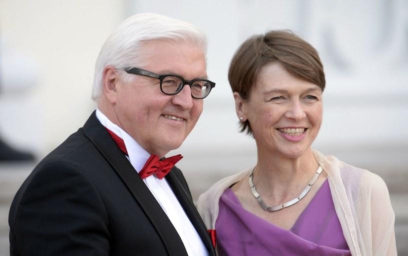 Frank Walter-Steinmeier z żoną Elke Buedenbender /AFP