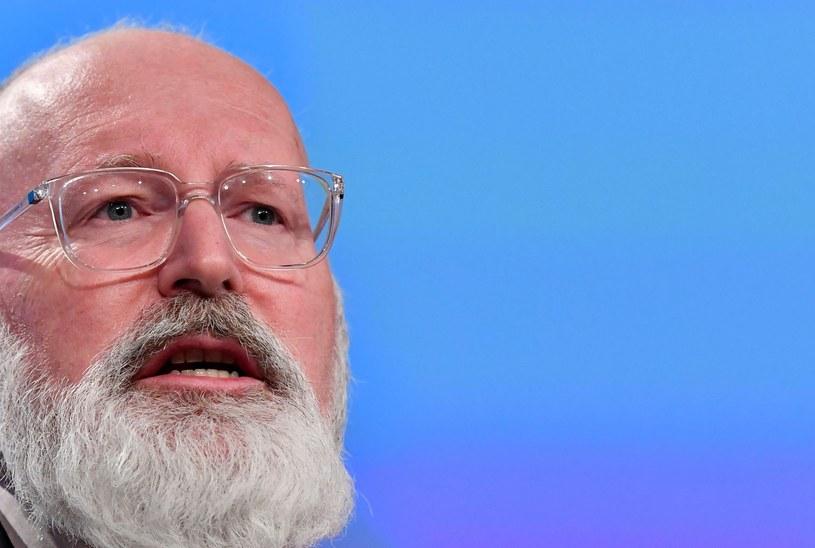 Frans Timmermans, wiceprzewodniczący KE /AFP