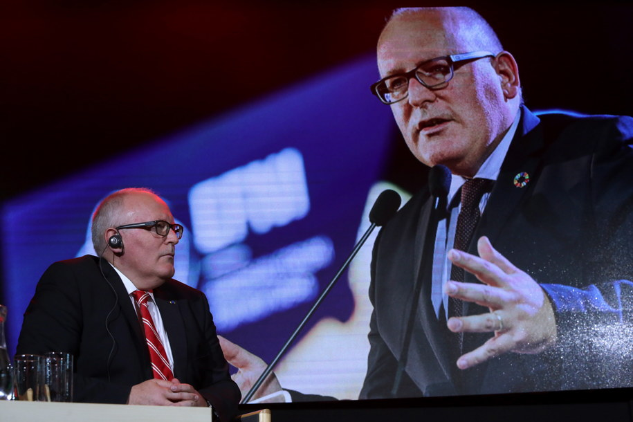 Frans Timmermans /Tomasz Gzell /PAP