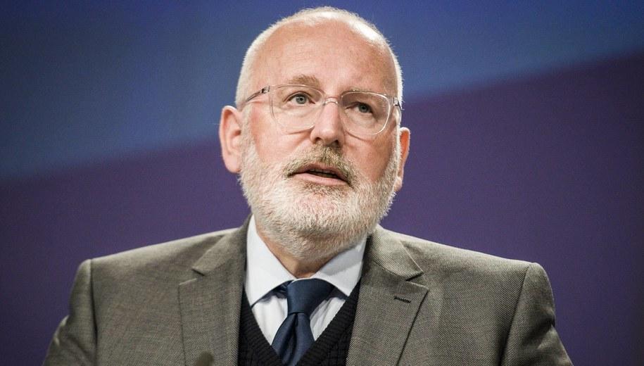 Frans Timmermans /Wiktor Dąbkowski   /PAP/EPA