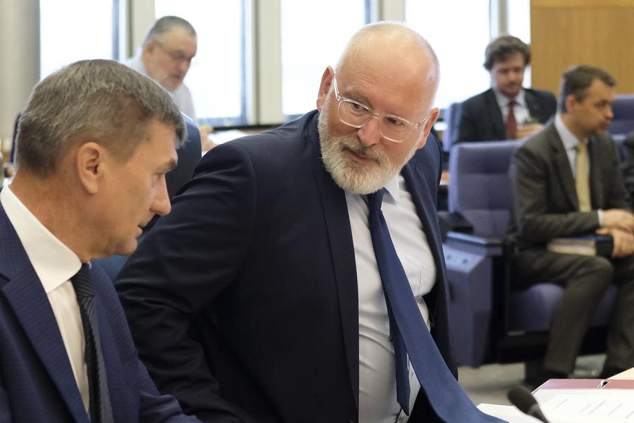 Frans Timmermans /OLIVIER HOSLET /PAP/EPA