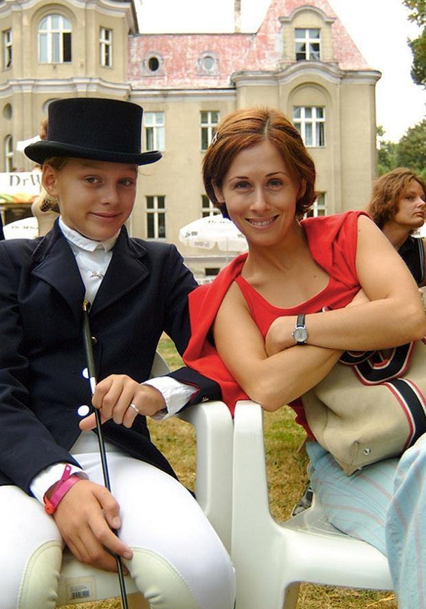 Fraszyńska z córką Nastką w 2002 roku. Fot. Prończyk  /AKPA