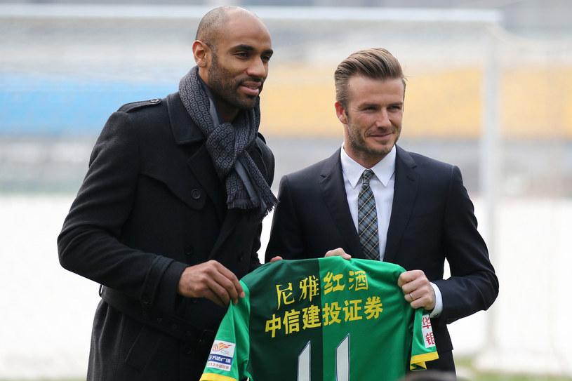 Frederic Kanoute i David Beckham /AFP
