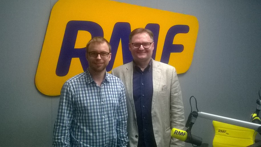 Frédéric Schneider i Bogdan Zalewski /RMF FM /
