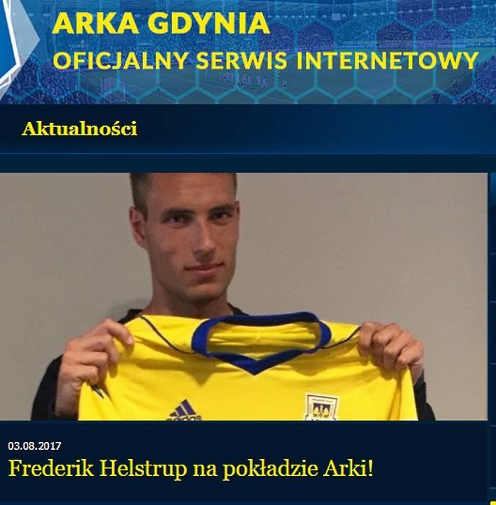 Frederik Helstrup; źródło: arka.gdynia.pl /