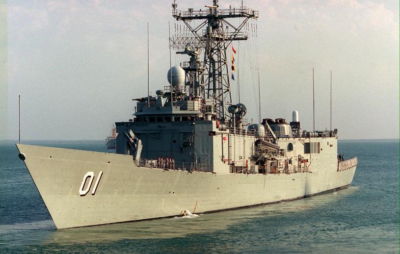 Fregata Adelaide. Fotografia z 1999 r., przed gruntowną modernizacją okrętu /AFP
