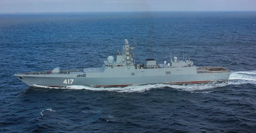 """Fregata """"Admirał Gorszkow"""", fregata projektu 22350. Nowe mają być większe i lepiej uzbrojone /Marynarka Wojenna Federacji Rosyjskiej /domena publiczna"""