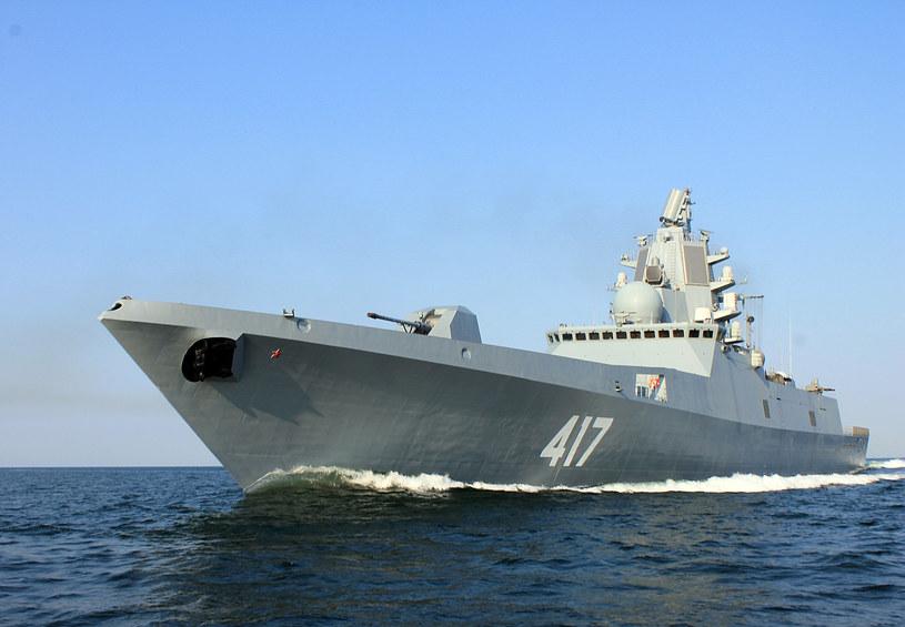"""Fregata """"Admirał Gorszkow"""". Rosjanie planowali wprowadzenie do linii zmodyfikowanego projektu okrętu /Marynarka Wojenna Federacji Rosyjskiej /domena publiczna"""