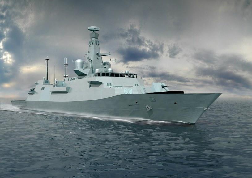 Fregata typu 26 GCS - wizualizacja. /materiały prasowe