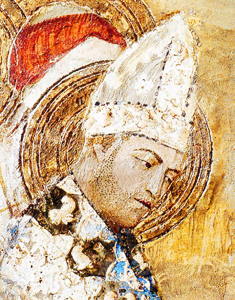 Fresk przedstawiający papieża Klemensa VI /Ciekawostki Historyczne