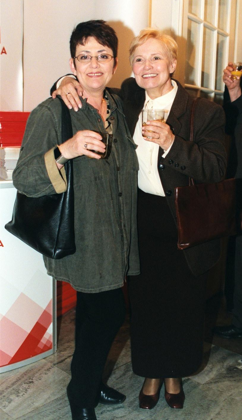 Fryderyka Elkana na zdj. z Edytą Wojtczak, 2003 rok /Tricolors /East News