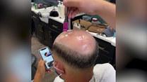 Fryzjer-cudotwórca. Łysina to dla niego nie problem