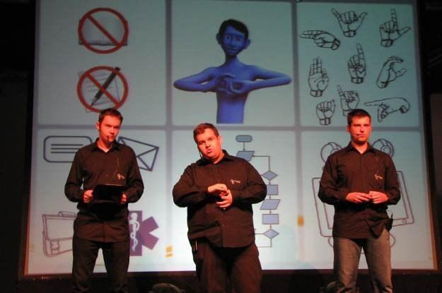 Fteams podczas swojej finałowej prezentacji w Warszawie na krajowych finałach /INTERIA.PL