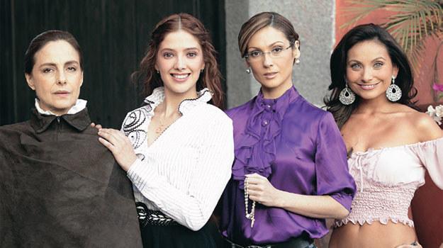 """""""Fuego en la sangre"""": Sofía Elizondo (druga od lewej) była ostatnią kreacją w dorobku Adeli Noriegi /Świat Seriali"""