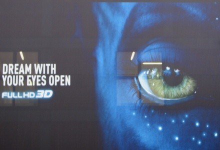 "FullHD 3D w wydaniu Panasonica. Obok główny bohater filmu ""Avatar"" /INTERIA.PL"