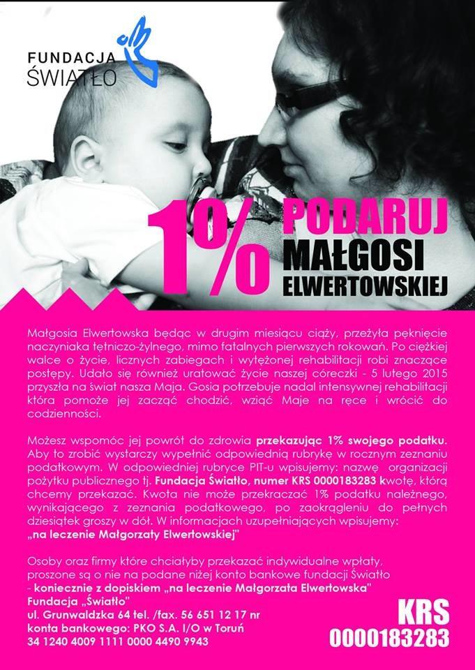Fundacja zbiera środki na leczenie Małgorzaty Elwertowskiej /