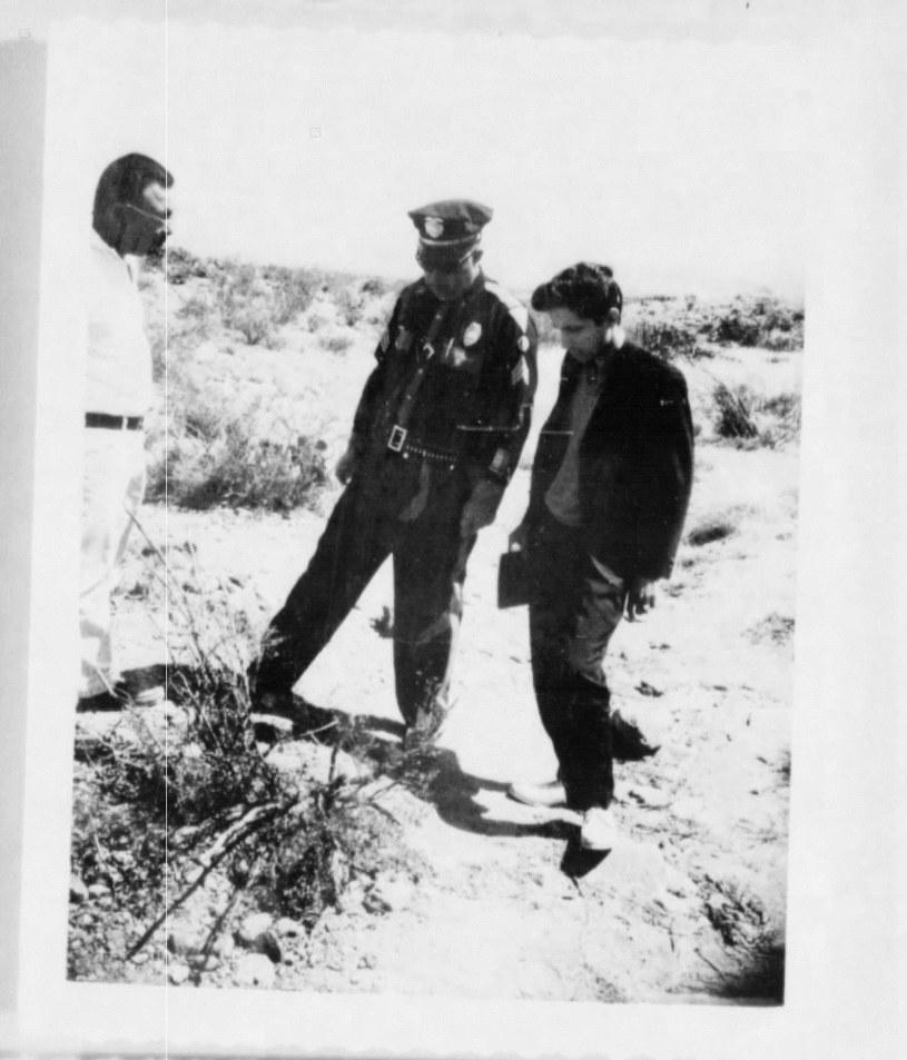 Funkcjonariusz policji, który przybył na miejsce rzekomego spotkania z UFO /materiały prasowe