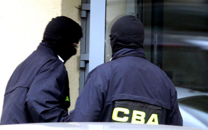 Funkcjonariusze CBA przyszli do siedziby kółek rolniczych po dokumenty. /Witold Rozbicki /Reporter