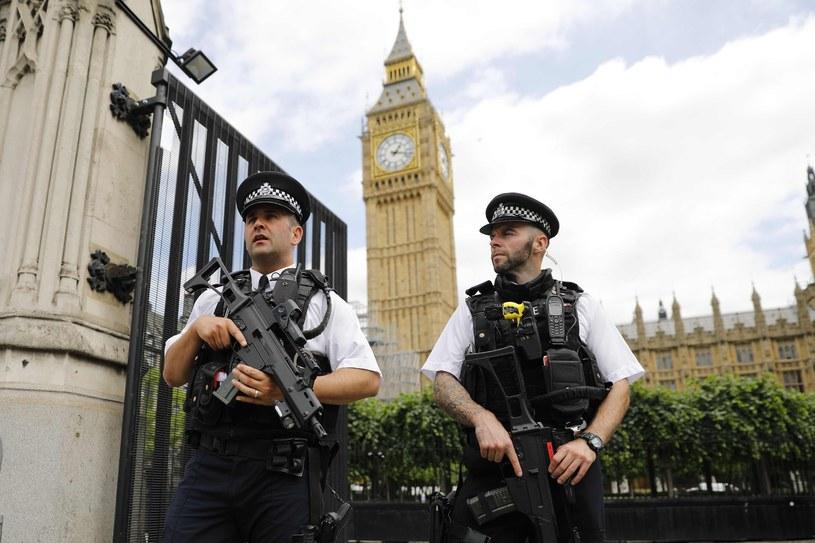 Funkcjonariusze policji przed brytyjskim parlamentem, zdjęcie ilustracyjne /AFP