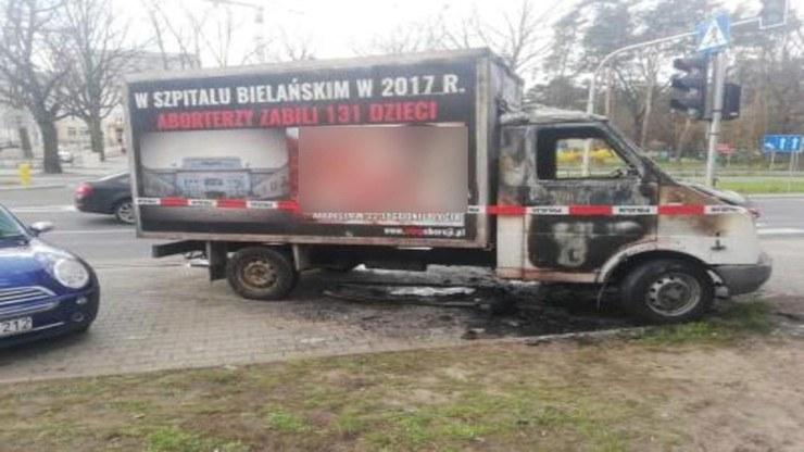 Furgonetka spłonęła w nocy /Polsatnews.pl