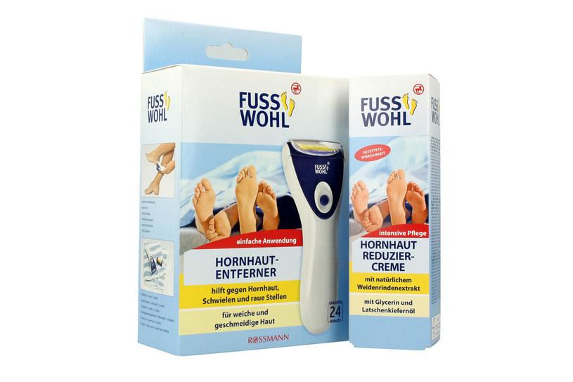 Fusswohl: Elektroniczny pilnik do stópi krem redukujący zrogowacenia skóry /materiały prasowe
