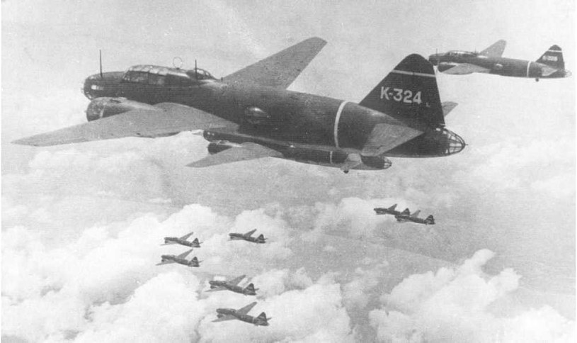 G4M Betty - na pokaldzie takiego samolotu zginął admirał Yamamoto /Wikimedia Commons /materiały prasowe