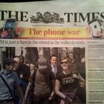 "Gaba Kulka na okładce ""The Times"""