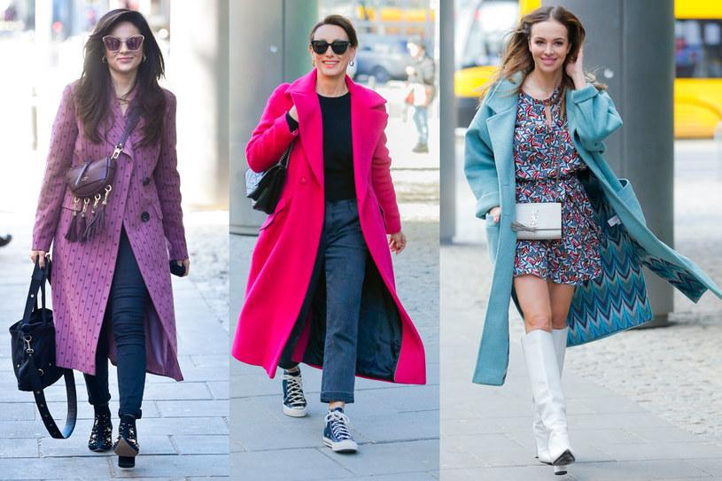 Gabi Drzewiecka, Anna Kalczyńska i Anna Wendzikowska postawiły w tym roku na odważny kolor /AKPA