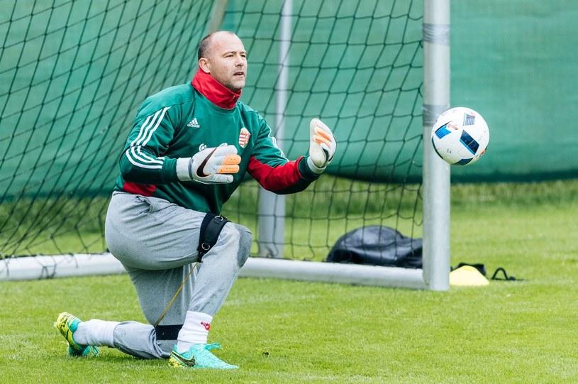 Gabor Kiraly na treningu reprezentacji Węgier /AFP