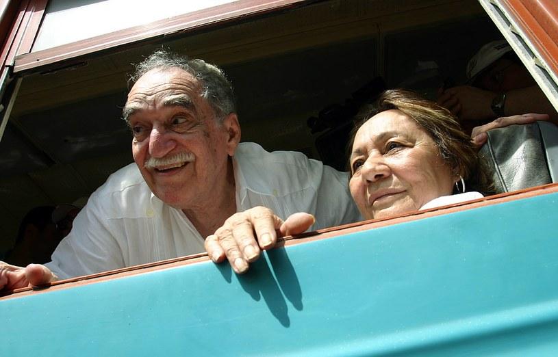Gabriel Garcia Marquez z żoną Mercedes /AFP