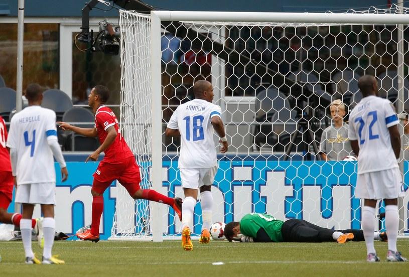 Gabriel Torres fetuje zdobycie gola /AFP