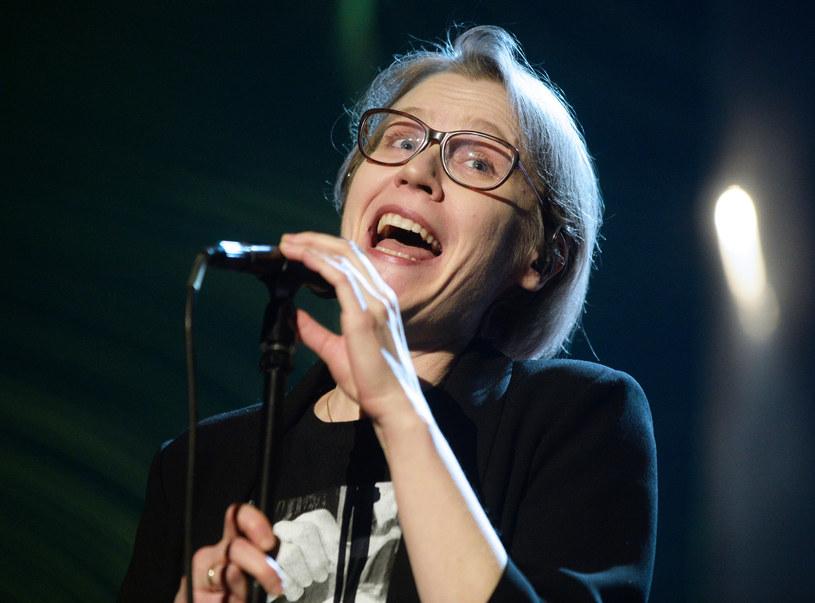 Gabriela Kulka podczas gali wręczenia nagród Polskiego Radia Złote Mikrofony. /Jan Bielecki /East News