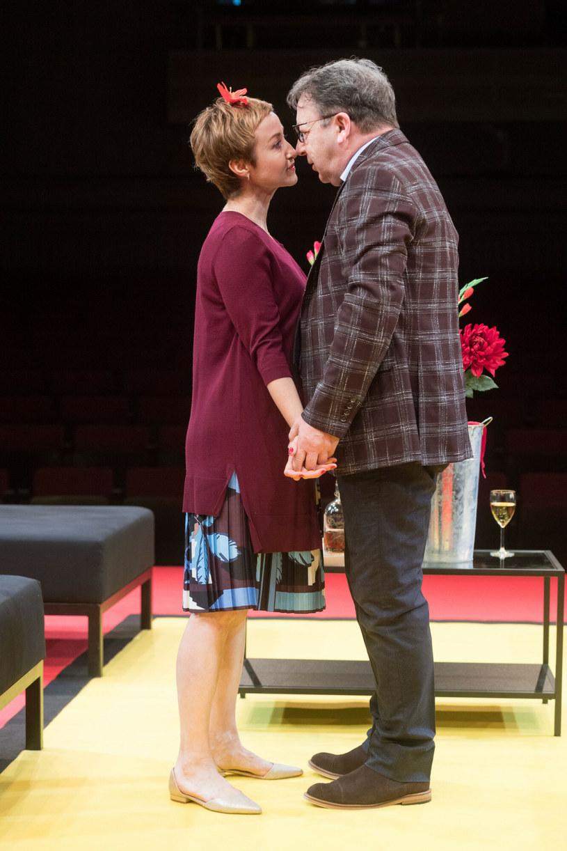 Gabriela Muskała i Zbigniew Zamachowski na scenie teatru / Jacek Dominski /REPORTER