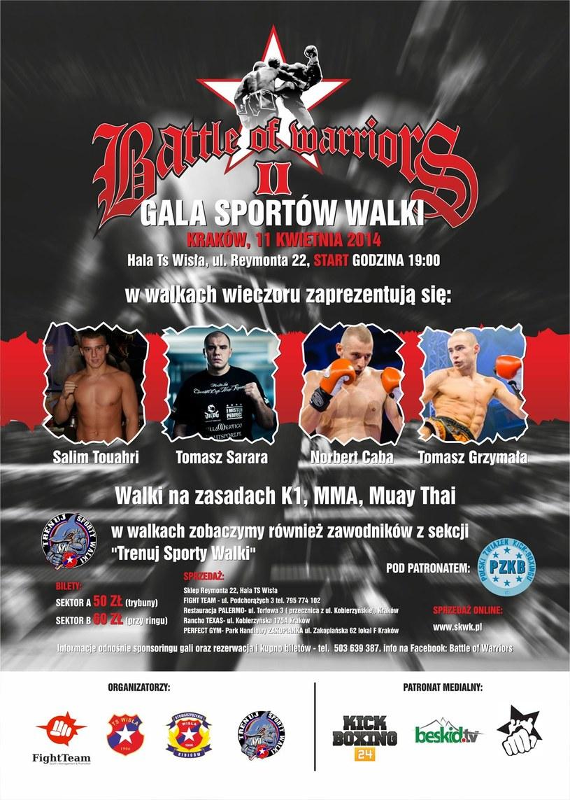Gala Battle of Warriors już 11 kwietnia w Krakowie /INTERIA.PL