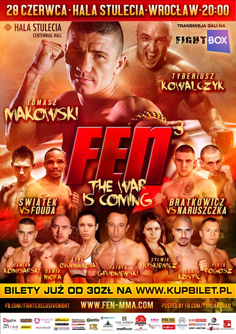 Gala Fight Exclusive Night 3 odbędzie się 28 czerwca we Wrocławiu /Informacja prasowa