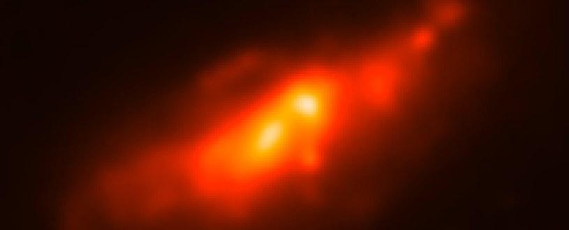 Galaktyka NGC 4490 jest niezwykła - ma dwa rdzenie /materiały prasowe